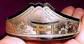 JAPANESE STERLING & GOLD INLAY BANGLE