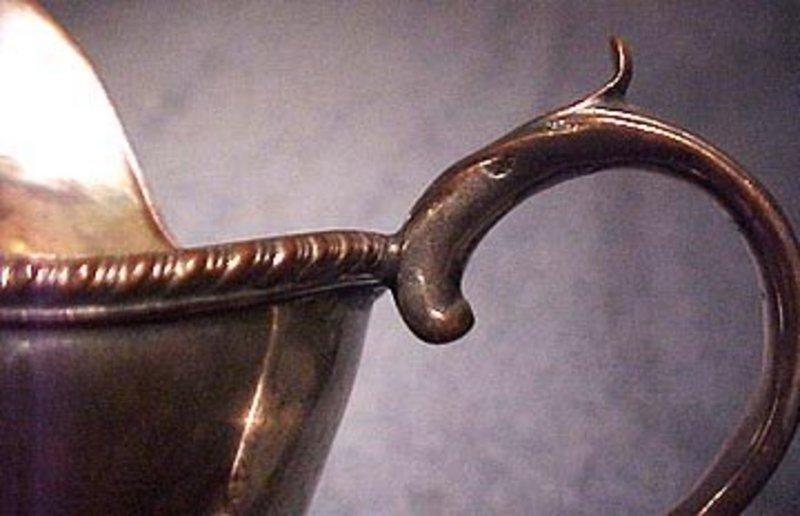 SHEFFIELD PLATE HELMET STYLE CREAM JUG c1780-1800