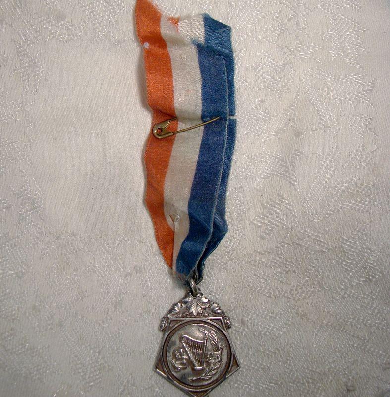 EYMC STERLING SILVERMUSIC AWARD FOB 1927 with RIBBON