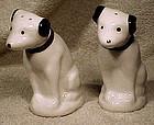 Pair NIPPER RCA DOG CERAMIC SALT & PEPPER SHAKERS