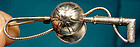Jewel Art JOCKEY CAP & WHIP STERLING PIN c1940s
