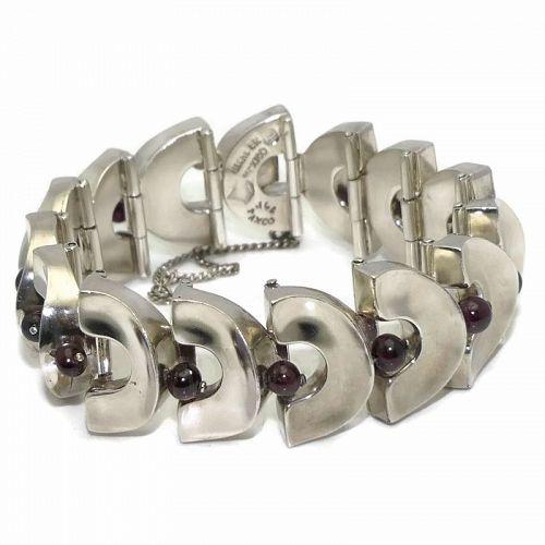 Antonio Pineda Garnet Sterling Silver Bracelet