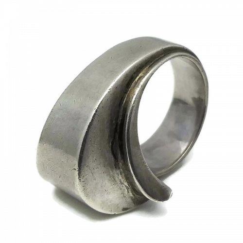 Antonio Pineda Jewels By Antonio Taxco Mexican Silver Wave Ring