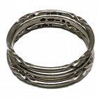 Antonio Pineda Taxco Mexican 970 Silver Triple Bangle Bracelet Set