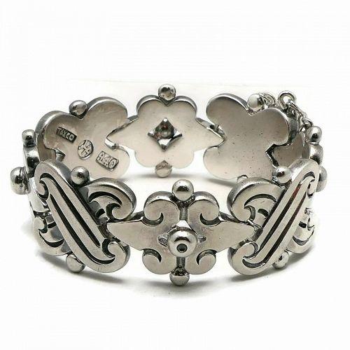 1940's Hector Aguilar 940 Silver Taxco Mexican Fertility Bracelet