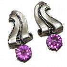 Margot de Taxco #5429 Ribbon Gemstone Taxco Sterling Silver Earrings