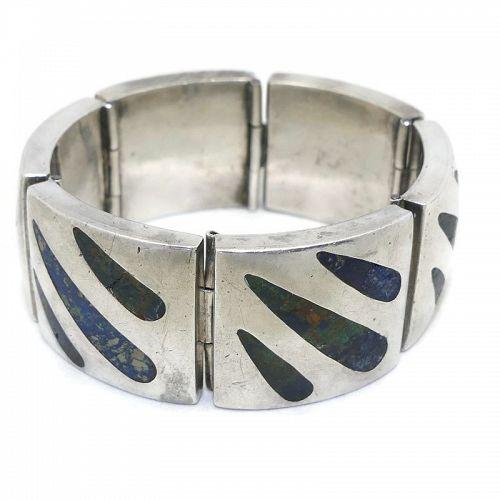 Felipe Martinez / Piedra Y Plata Azurite Silver Bracelet