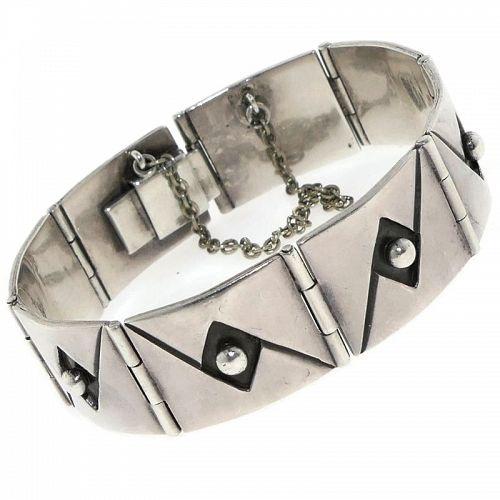 Reveriano Castillo Taxco Mexican Modernist Sterling Silver Bracelet