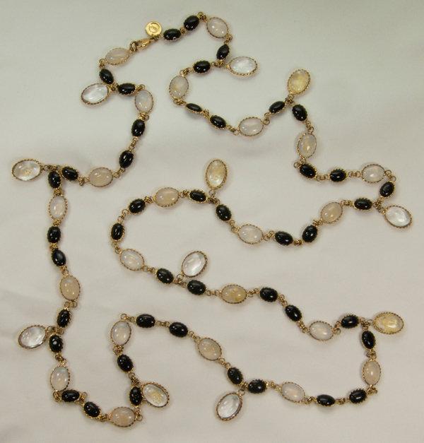 Histoire de Verre France Maison Gripoix Glass Necklace
