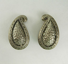 80s Oscar de la Renta Indian Moghul Style Earrings