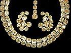 Stunning Signed Kramer Saphiret Glass Necklace Earrings