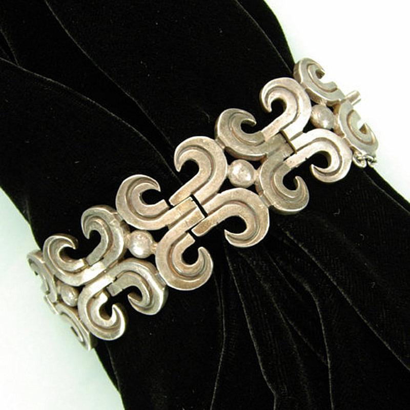 Exceptional Heavy Silver Los Ballesteros Link Bracelet