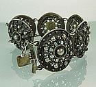 Gunmetal Gray 835 Silver Beaded Austrian Bracelet