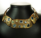 1960s Luciana Italy Necklace: Glass Alexandrite Stones