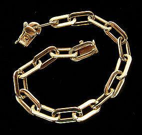 1940s Tiffany 14KT Yellow Gold Oblong Links Bracelet