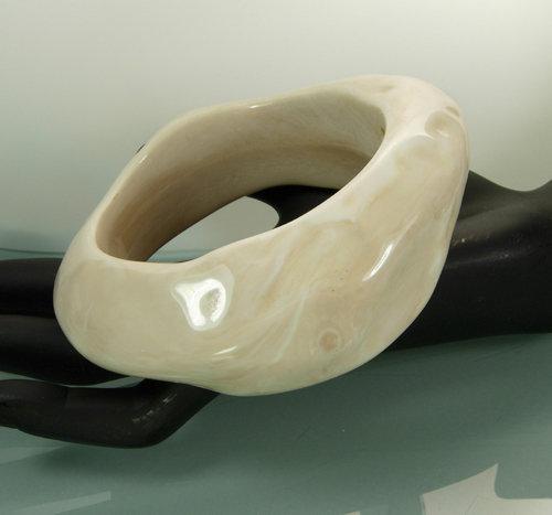 Fabulous 1970s Signed Givenchy Molten Resin Bracelet