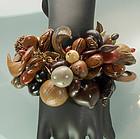 Amazing Huge Napier Fantasy Bracelet: Organic Elements