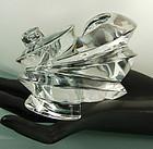 Amazing Patricia Von Musulin Clear Lucite Cuff Bracelet