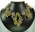 Big 1960s Statement Necklace Brilliant Crystal Stones
