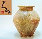 Important Shigaraki Tsubo Vase by Tsujimura Shiro