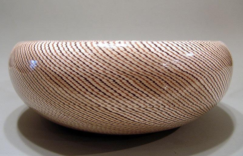 Stunning Nerikomi Hachi by Shiobara Yoshio, Exhibited