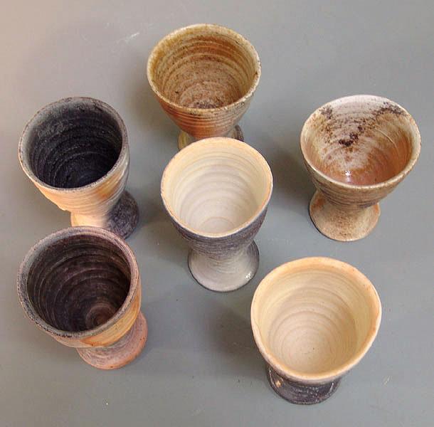 Contemporary White Bizen Mug Set, Kitano Katsuhiko