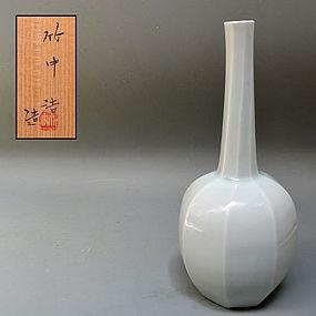 Contemporary Hakuji Mentori Vase by Takenaka Ko