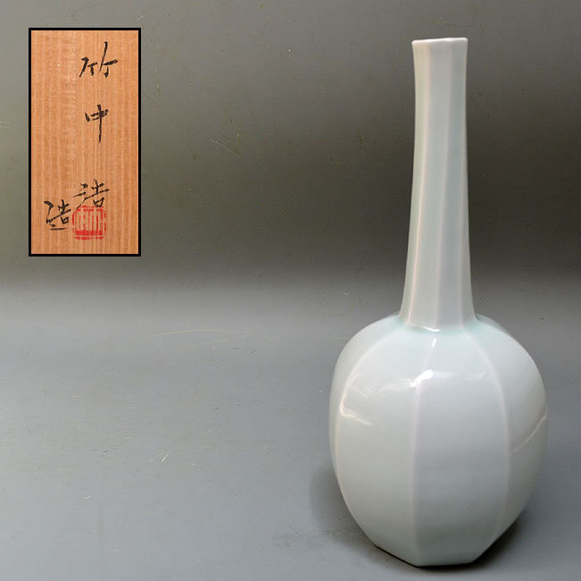 Contemporary Hakuji Mentori Vase by Takenaka Ko