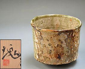 Iga Chawan Tea Bowl by Tsujimura Kai