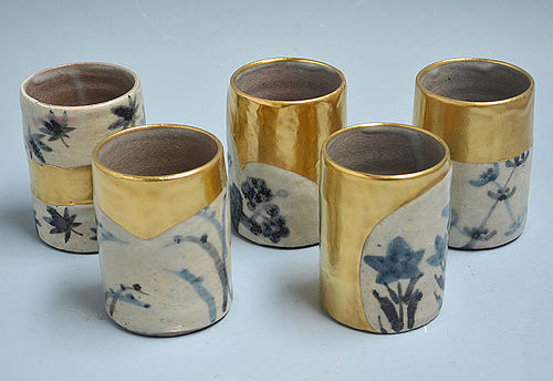Yuniomi Cup and Plate Sets by Ando Hidetake