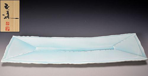 Huge Celadon Platter by Yoshikawa Masamichi