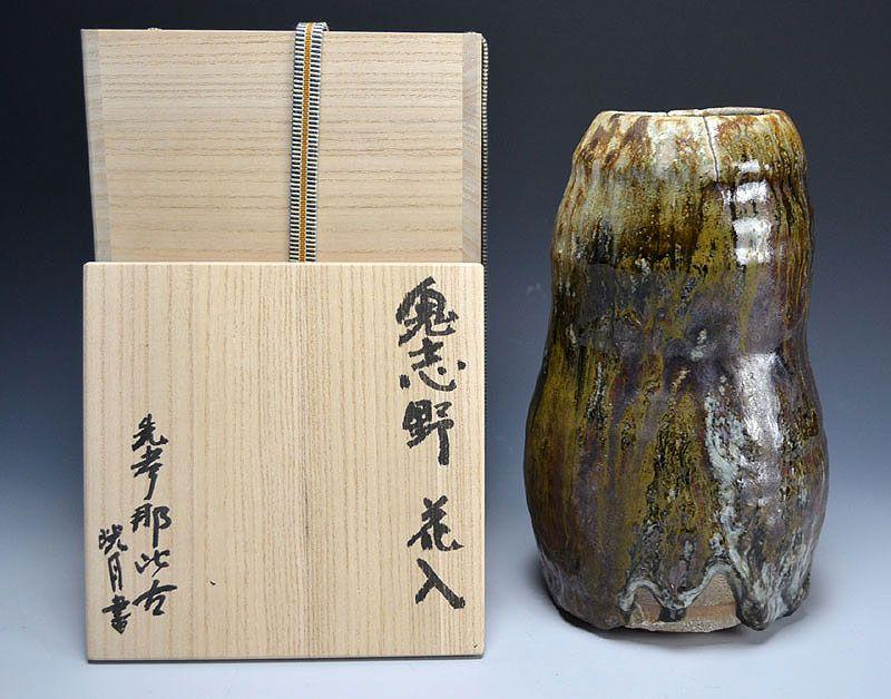 Tsukigata Nahiko Oni Shino Hanaire Vase