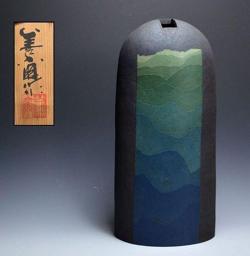 Miyashita Zenji Exhibited Modern Japanese pottery Vase