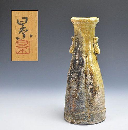 Tanimoto Kei Contemporary Iga Shizen-yu Ash Glaze Vase