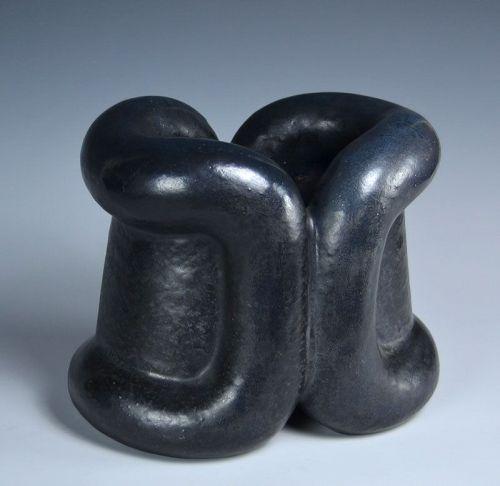 Superb Kiyomizu Kyubei Early Sculptural Vase