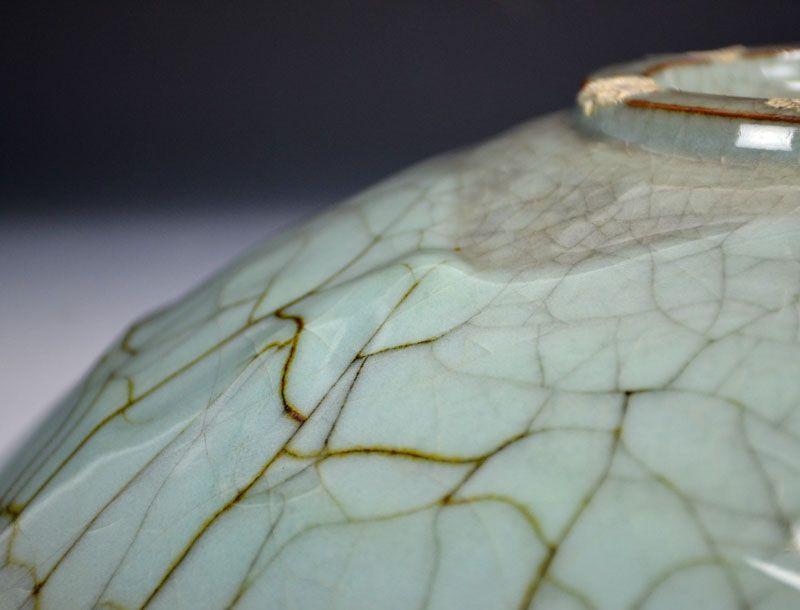 Incredible Shimizu Uichi Crackled Celadon Platter