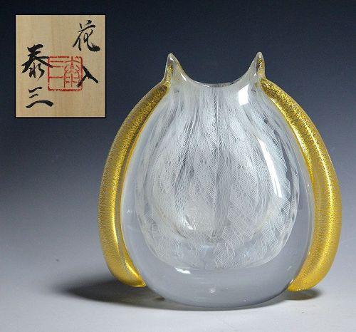 Yasuda Taizo Japanese Art-Glass Vase