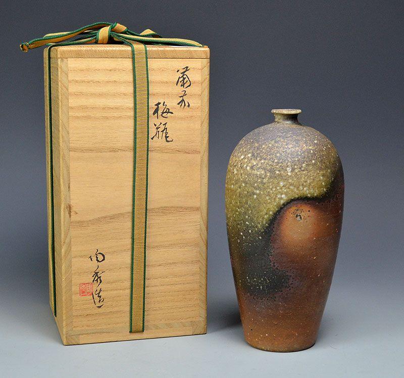 Living National Treasure Yamamoto Toshu Bizen Vase