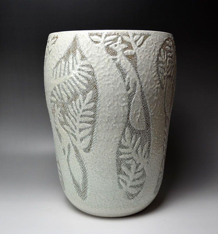 Shinkai Kanzan Large Open Flower Vase, Squirrels