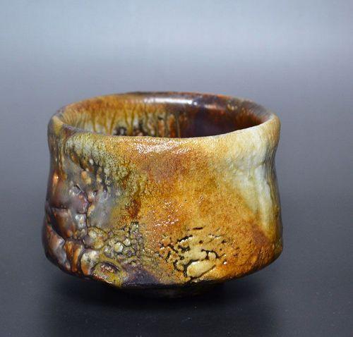 Tsukigata Nahiko Oni Shino Chawan Tea Bowl