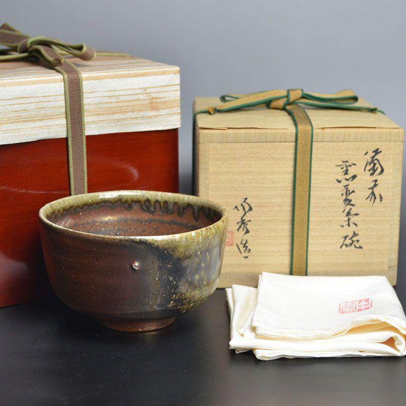 Living National Treasure Yamamoto Toshu Bizen Yohen Chawan
