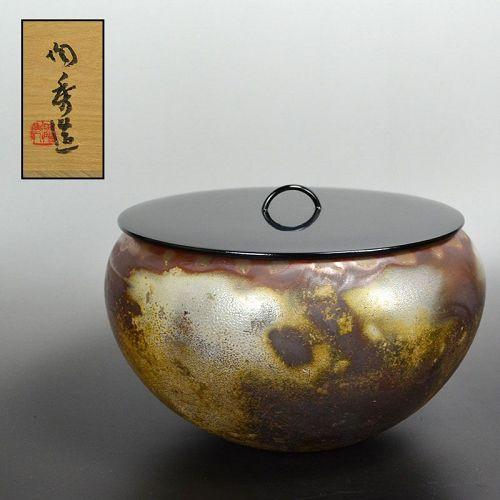 Living National Treasure Yamamoto Toshu Bizen Mizusashi