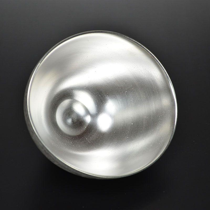 Ginsai Silver Glazed Bowl by Hattori Tatsuya