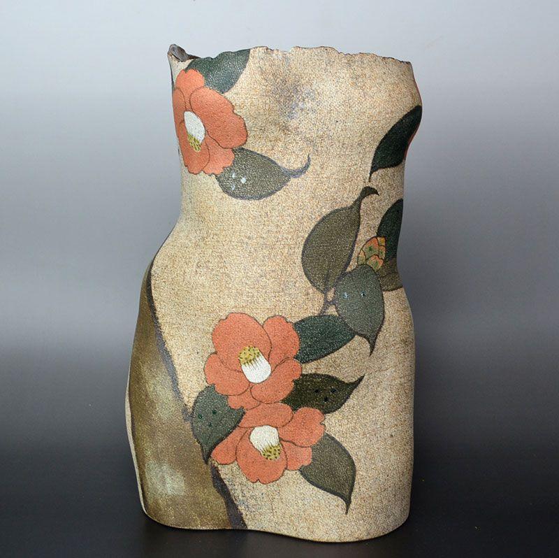 Ito Motohiko Sculptured Female Figure Vase