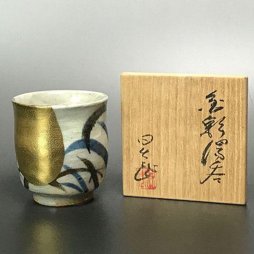 Ando Hidetake Kinsai Yunomi Tea Cup