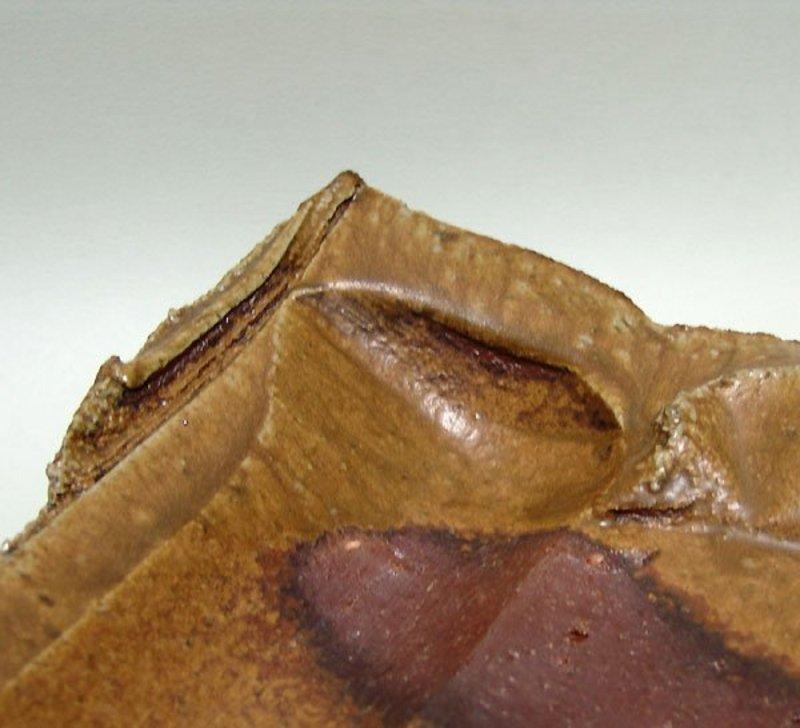 Incredible Sculpted Bizen Charger by Kakurezaki Ryuichi