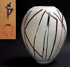 Massive Pot by Living National Treasure Shimizu Uichi
