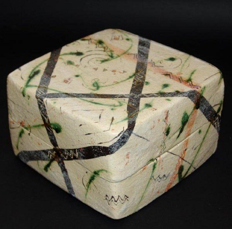 Large Ceramic Box by Potter Suzuki Goro