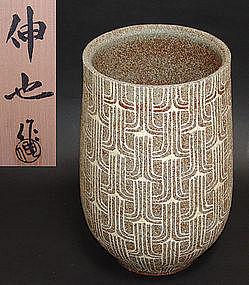 Large Flower Vase by Kato Shinya