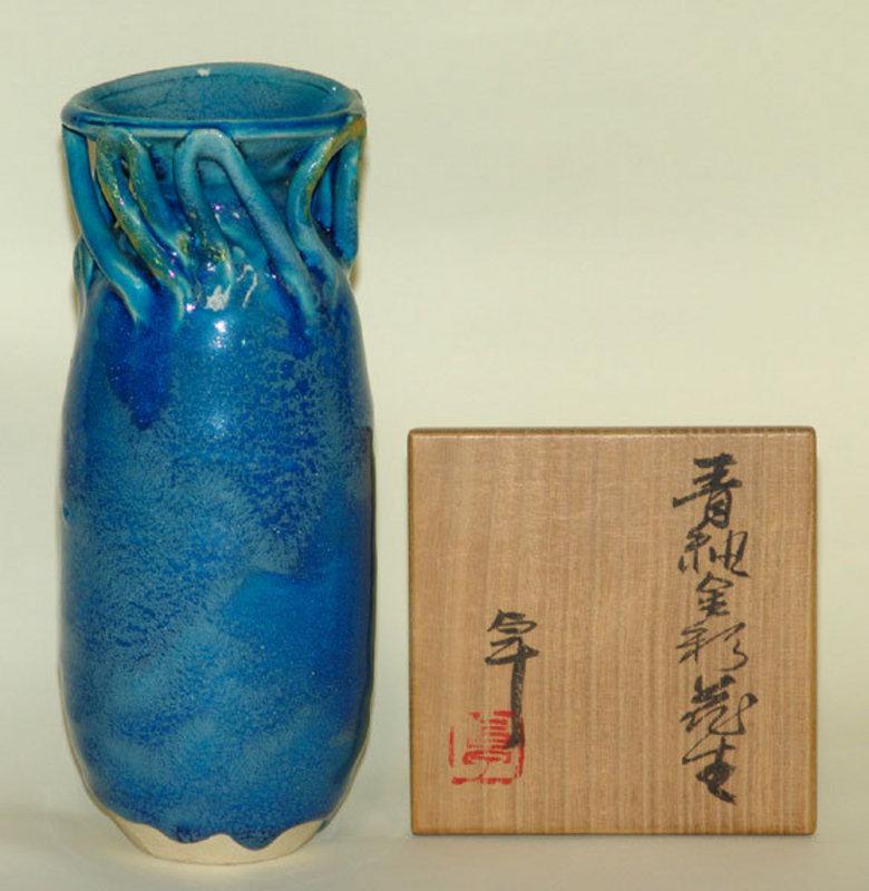 Vase by Japanese Living National Treasure KATO TAKUO